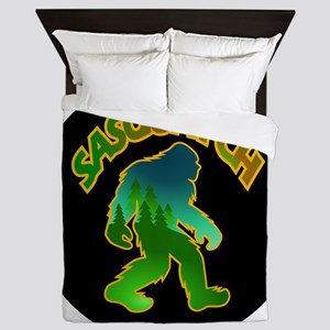 Sasquatch Forest Scene Queen Duvet